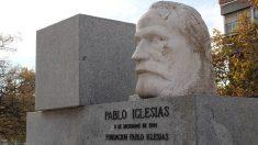 Réplica del busto de Pablo Iglesias en Cuatro Caminos.