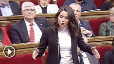 Zasca descomunal de Inés Arrimadas a Quim Torra: «Aquí muy gallitos pero ante los jueces se vienen abajo».