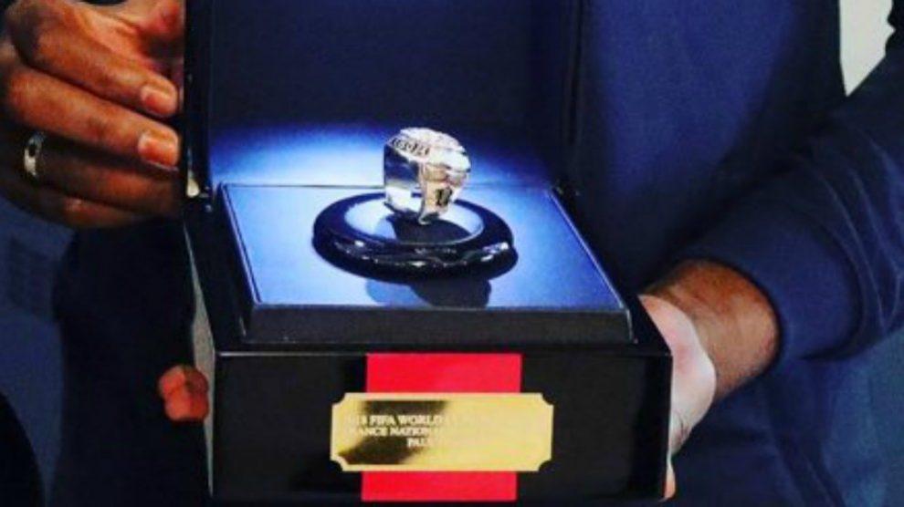 El anillo que ha regalado Pogba a sus compañeros de la selección francesa que ganaron el Mundial de Rusia 2018.