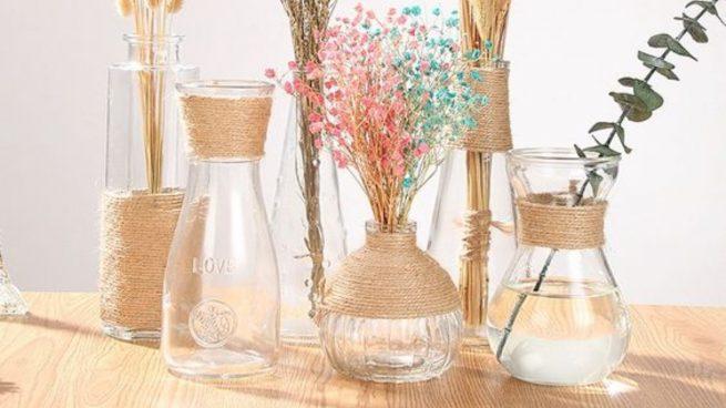 Cómo decorar botes de cristal: cuerdas, luces y conchas