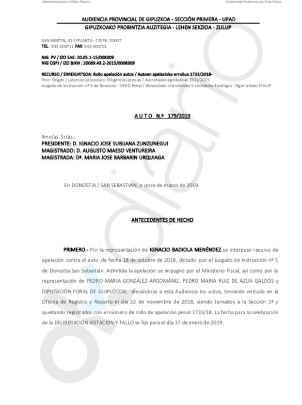 """El juez ve """"indicios de prevaricación"""" de la Hacienda vasca del PNV en el trato a la Real Sociedad"""
