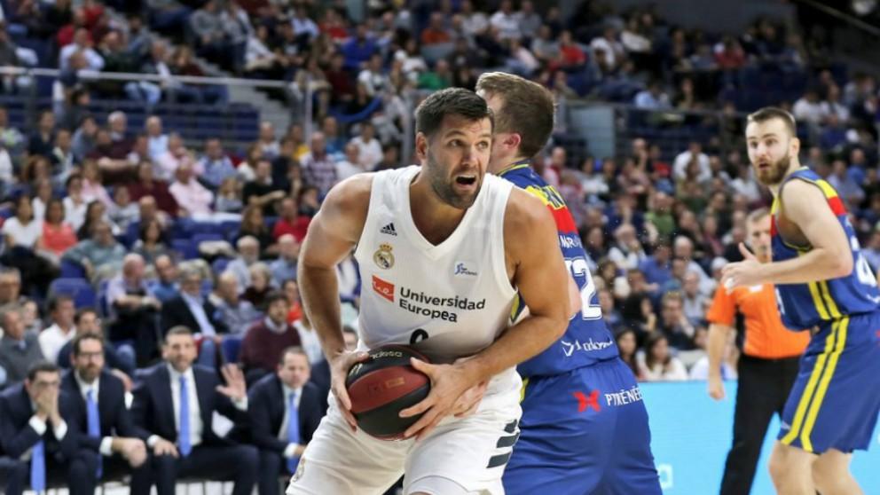 Felipe Reyes, en un partido en la presente temporada.