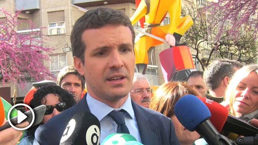 """Casado exige a Sánchez """"que ponga orden"""" y aplique el 155 en Cataluña"""