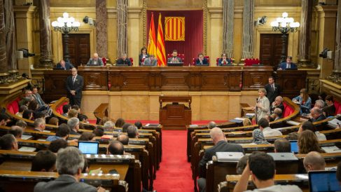 Pleno en el Parlament de Cataluña. Foto: Europa Press
