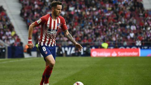 Saul Ñíguez con el Atlético (AFP)