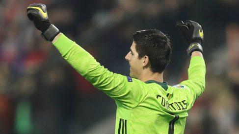 Hazard arregló el lío de Courtois con Bélgica. (AFP)