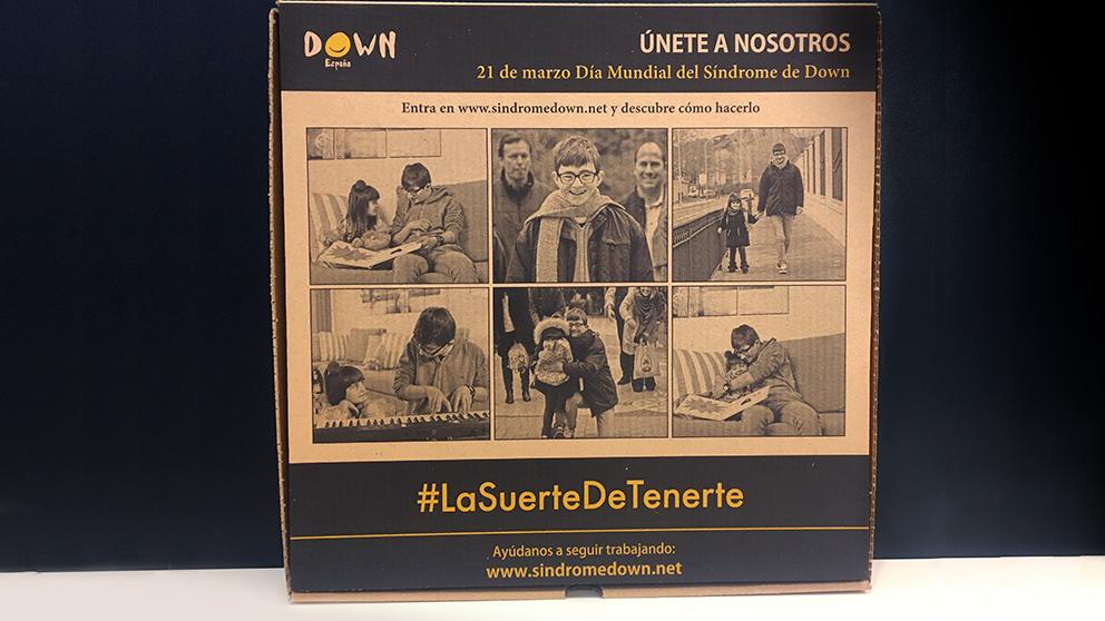 Un millón de 'Cajas Solidarias' de Telepizza para apoyar a Down España