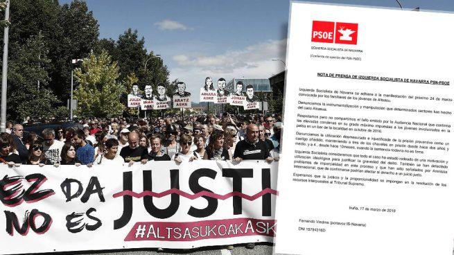 El 'caso Alsasua' le estalla al PSOE: Izquierda Socialista irá a la marcha a favor de los proetarras