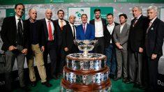 Gerard Piqué, en la presentación oficial de las finales de la Copa Davis. (AFP)