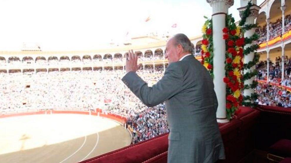 El Rey emérito Juan Carlos I en la plaza de toros de Las Ventas en Madrid, donde cada año se celebra la feria de San Isidro. Foto: Europa Press