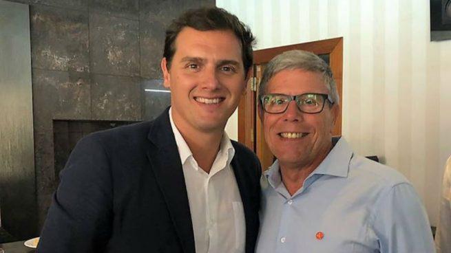 El líder de Ciudadanos, Albert Rivera (i), y el candidato José Manuel Gómez Lozano. (Foto: Gómez Lozano vía Facebook)