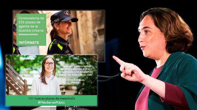 Colau hace campaña con el empleo público: 354 nuevas plazas municipales a dos meses del 26M