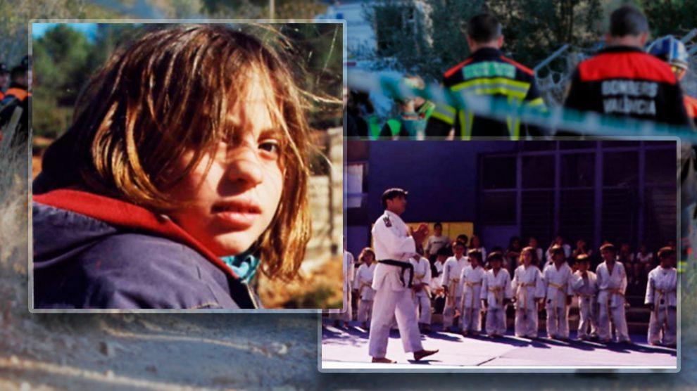 María Gombau en su época escolar, cuando destacaba en judo.