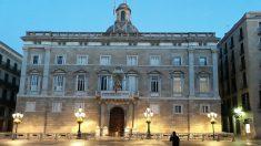 Palau de la Generalitat con la pancarta independentista. Foto: Europa Press