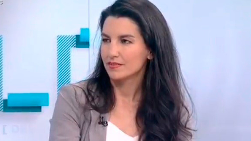 La presidenta de Vox en Madrid, Rocío Monasterio, en una entrevista en TVE.