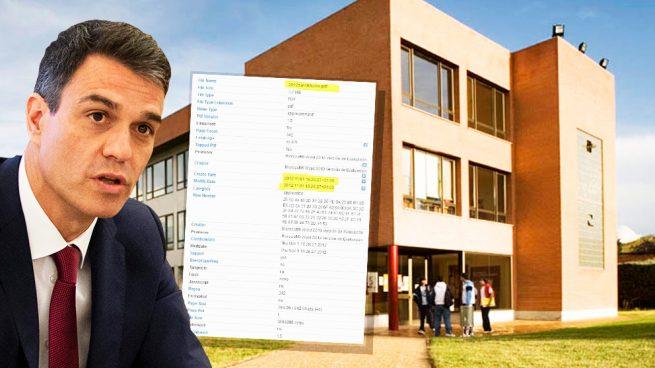 El PDF de la tesis 'fake' de Sánchez es posterior a la fecha de entrega que dice la Universidad