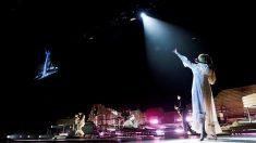 La banda británica de indie rock Florence and the Machine, liderada por la cantante Florence Welch, desembarca esta noche en el Palau Sant Jordi de Barcelona para presentar su disco «Hig as hope». Foto: EFE