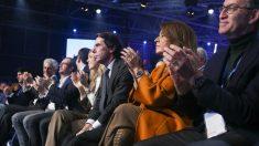 José María Aznar, Ana Botella y Núñez Feijóo. Foto: Europa Press