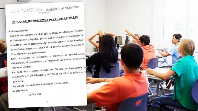 Un colegio andaluz liquida el Día del Padre y el de la Madre para «respetar otros tipos de familia»