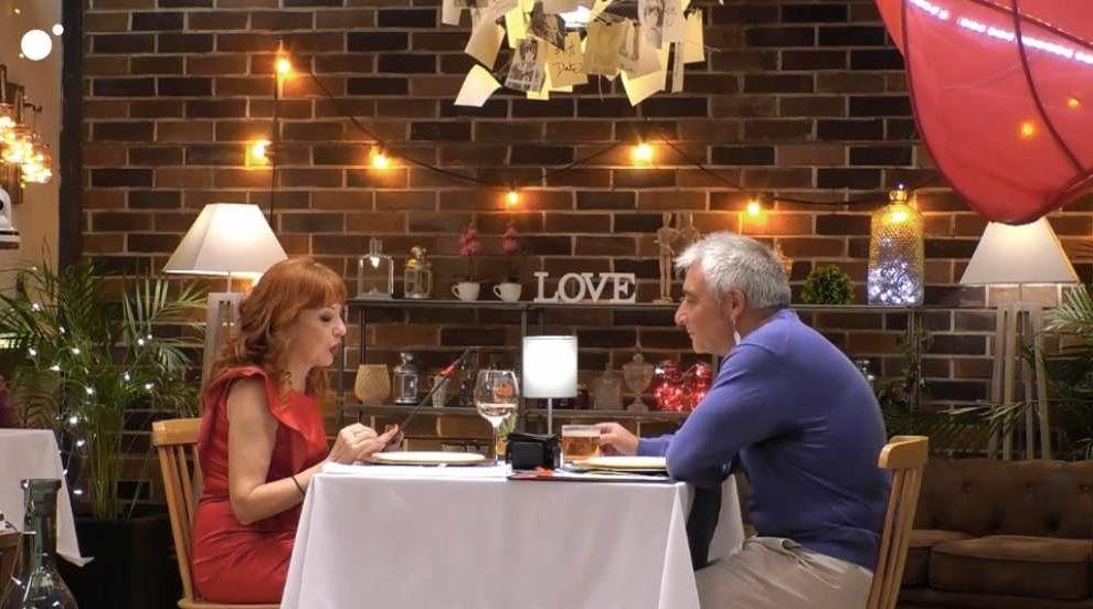 Rafael y Mercedes en 'First Dates'