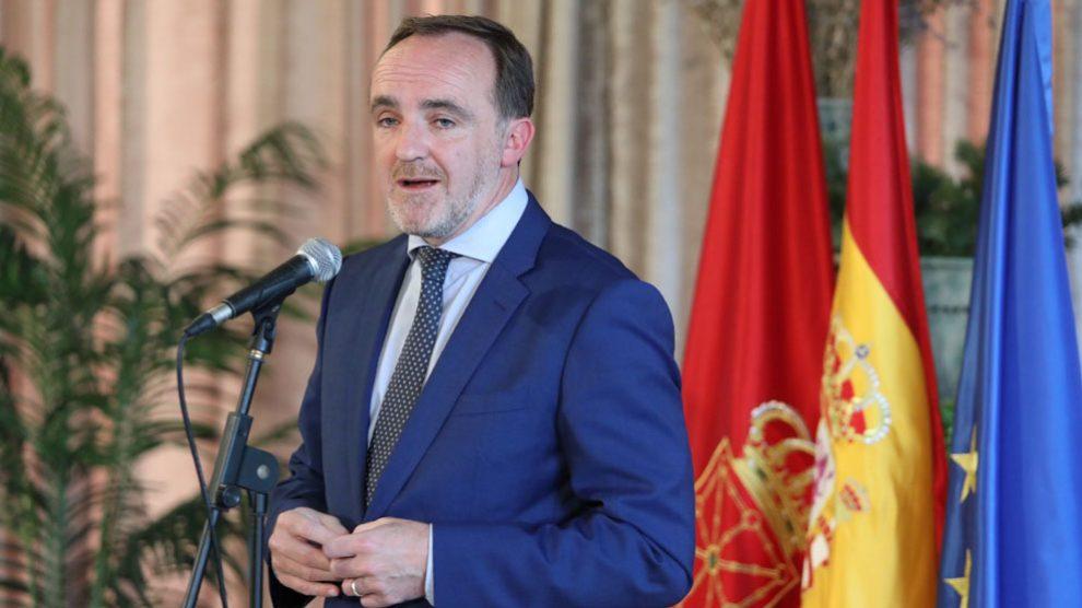 El candidato de Navarra Suma a la Presidencia del Gobierno foral y líder de UPN, Javier Esparza. Foto: Europa Press
