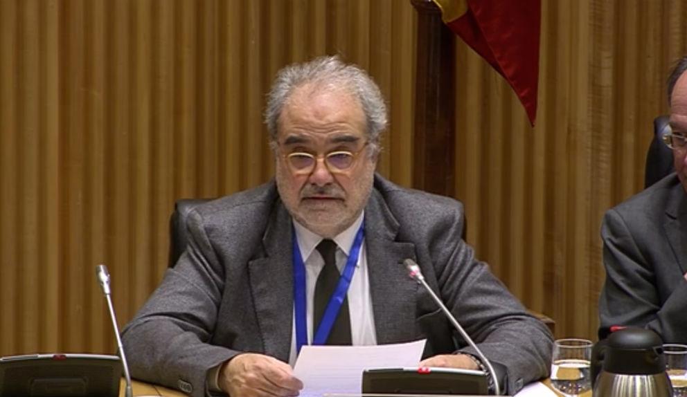 José María Serena, durante su intervención en la comisión de Transición Ecológica del Congreso