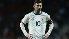 Leo Messi en el Argentina – Venezuela. (AFP)