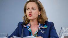 Nadia Calviño, ministra de Economía, durante la rueda de prensa posterior al Consejo de Ministros