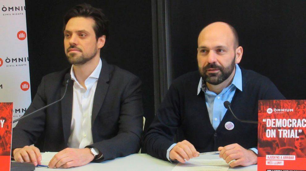 El vicepresidente de la entidad Òmnium Cultural, Marcel Mauri, en rueda de prensa. Foto: Europa Press