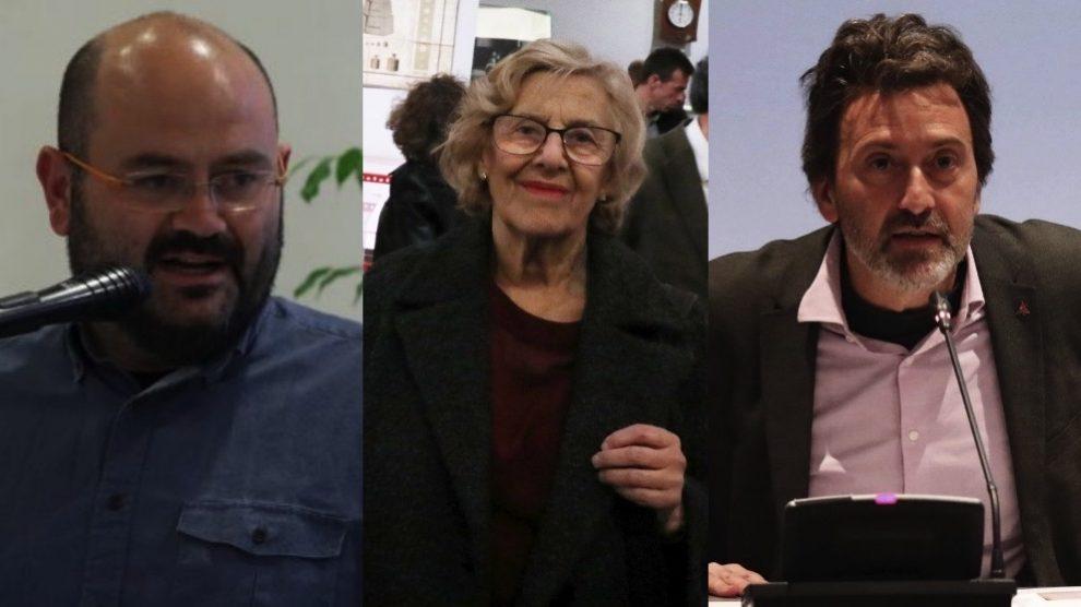 Pablo Carmona, Manuela Carmena y Mauricio Valiente. (Fotos. Madrid)