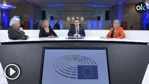 Nart, Estarás y Rodríguez Piñero en el debate en la euro cámara