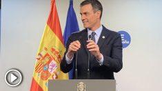 Sánchez, en Bruselas, durante la rueda de prensa posterior al Consejo Europeo. Foto: Joan Guirado