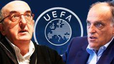 Tebas y Roures se han quedado en fuera de juego con la Superliga europea.