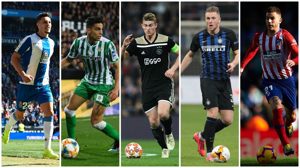Los posibles candidatos del Real Madrid ante una posible marcha de Raphael Varane. (Getty)