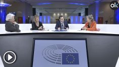 Los eurodiputados Javier Nart (Ciudadanos), Rosa Estarás (PP) e Inmaculada Rodríguez Piñero (PSOE) en una mesa moderada por OKDIARIO.