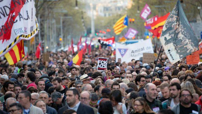 Fracaso de la manifestación de la ultraizquierda contra VOX en Barcelona: apenas 3.500 personas