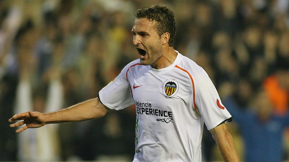 Rubén Baraja con el Valencia (AFP)