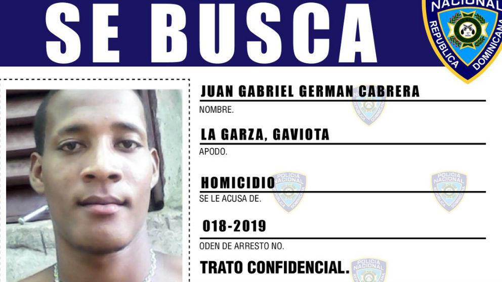 Imagen distribuida por la Policía dominicana del cómplice del crimen de Cristina García.