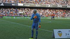 Cañizares en su regreso a Mestalla (@ValenciaCF)