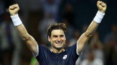 David Ferrer celebra su triunfo ante Zverev. (AFP)