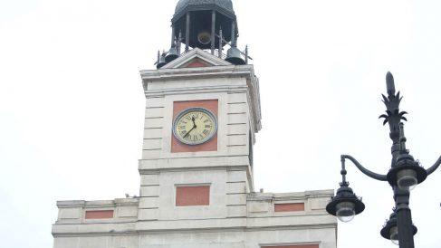 El reloj de la Puerta del Sol de Madrid