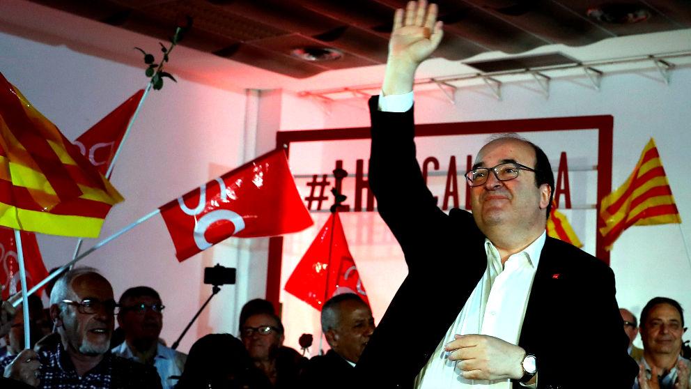 Miquel Iceta en un acto del PSC este domingo (Foto: EFE).
