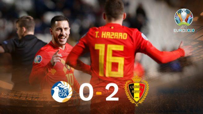 Hazard guía a Bélgica a la victoria contra Chipre