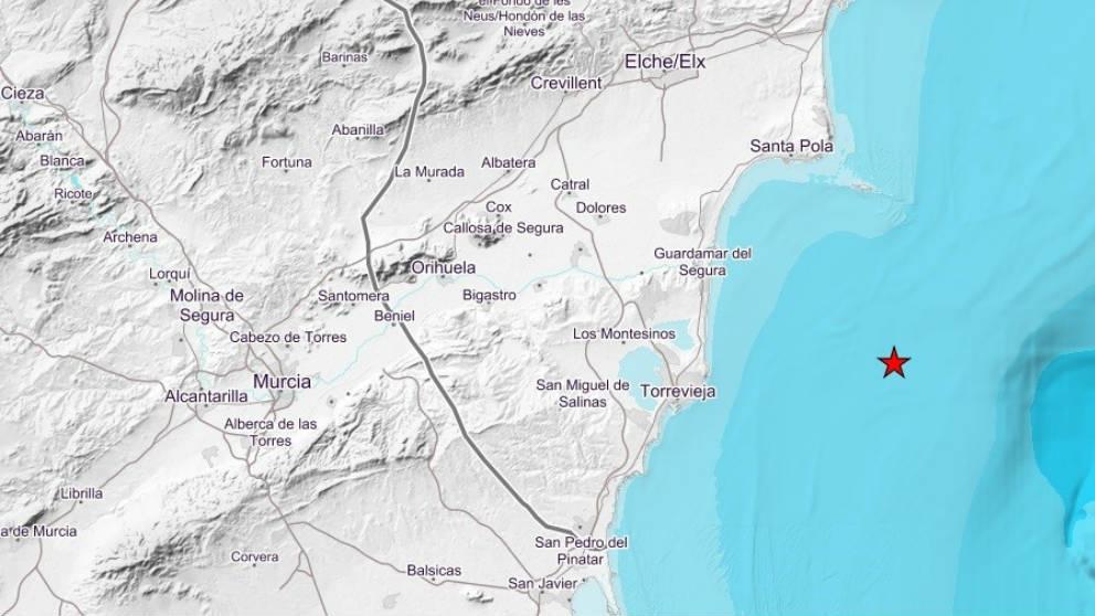 Zona afectada por el terremoto