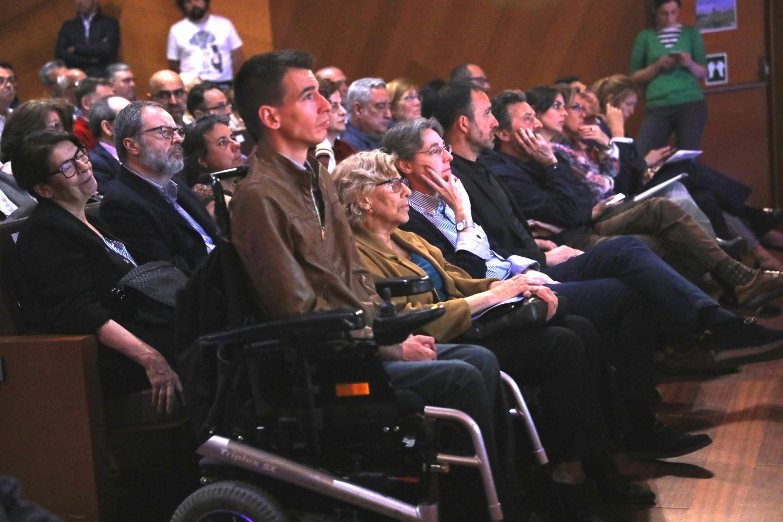 Carmena en el acto de este lunes. (Foto. Madrid)