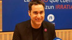 El parlamentario de EH Bildu Iker Casanova en una entrevista en una radio vasca. Foto: Europa Press