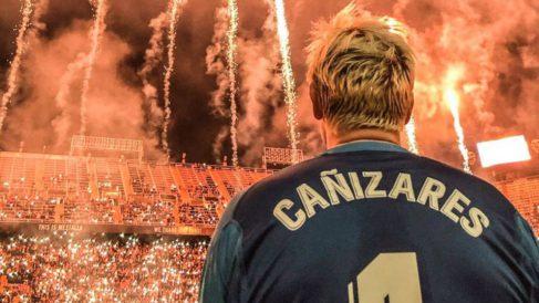 Santiago Cañizares durante los actos del Centenario del Valencia (@Santicanizares)