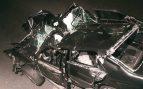 Así quedó el Mercedes donde viaja Lady Di con Dodi Al Fayed. (Foto. Getty)