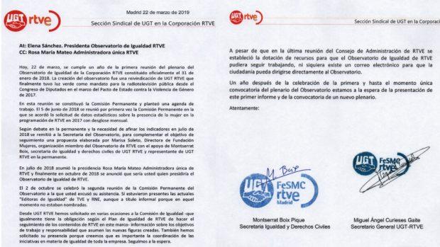 Mateo mantiene un Observatorio de Igualdad en TVE al que no se pueden enviar denuncias por email