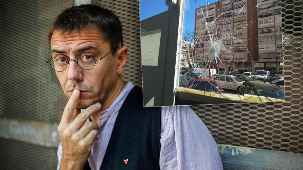 Juan Carlos Monedero ha responsabilizado del ataque de la sede de Podemos en el Distrito de Fuencarral-El Pardo en Madrid a los votantes de PP C's y VOX.